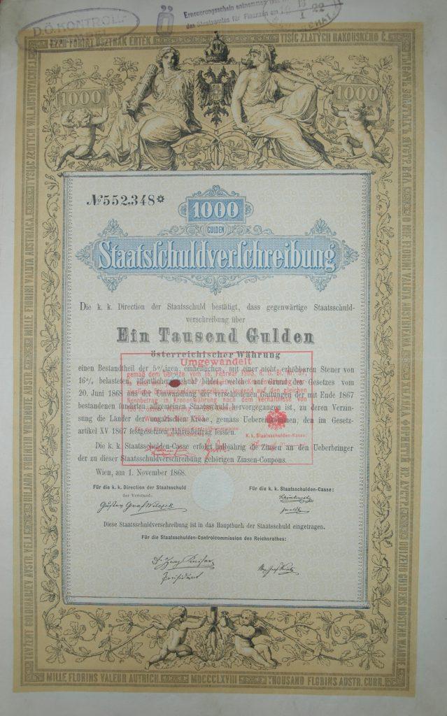 Staatsschuldverschreibung 1868