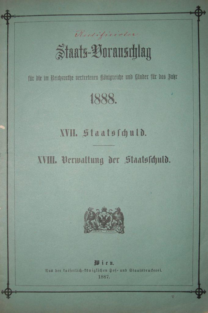 Teilheft zum Jahresbudget 1888