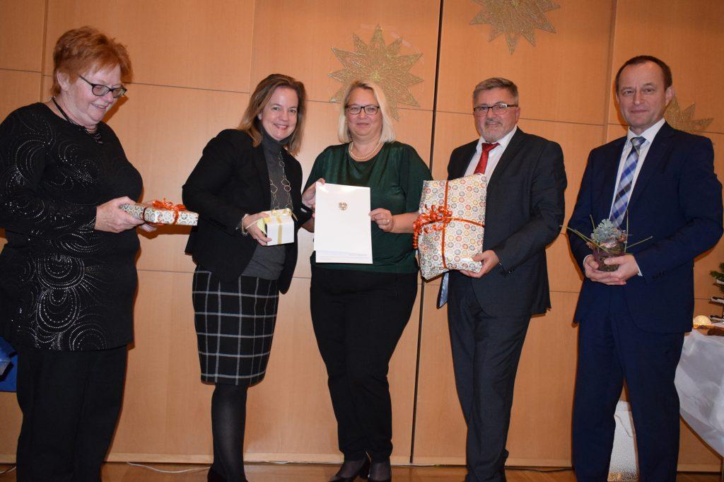 V.l.n.r.: Edeltraud Knoll, Angelika Schätz, Christine Plaim, Leo Pint und Helmut Dietrich